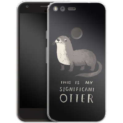 Google Pixel XL Silikon Handyhuelle - This Is My Significant Otter von Louis Ros