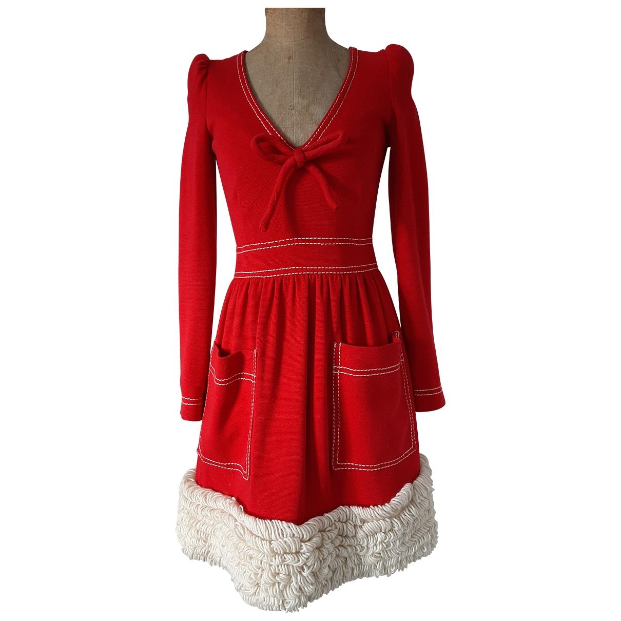 Manoush \N Kleid in  Rot Baumwolle
