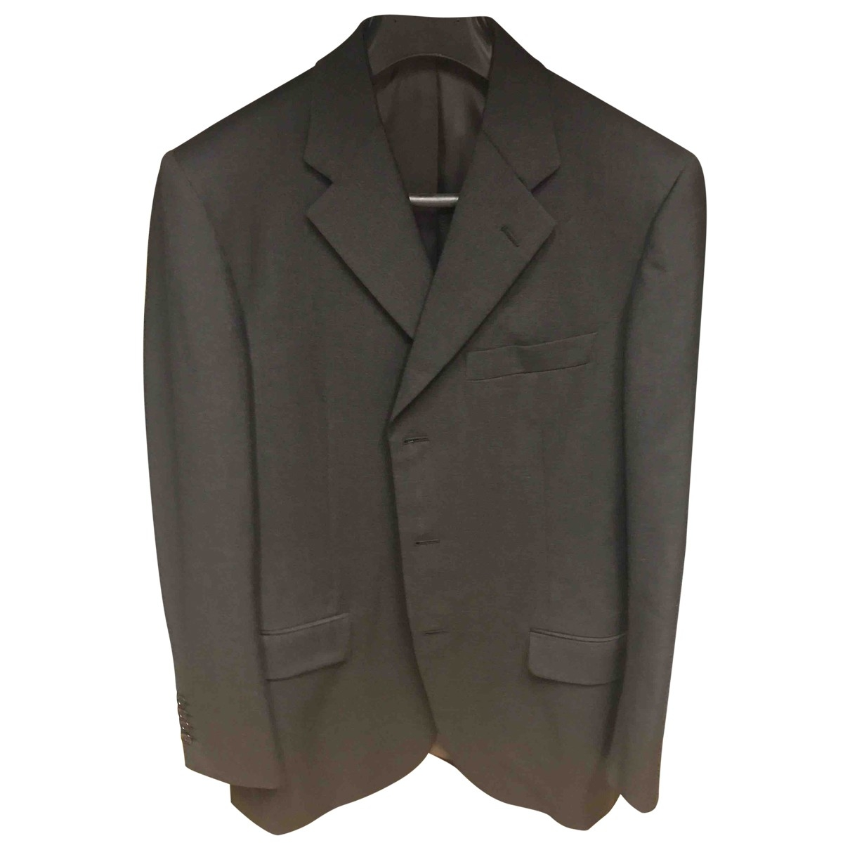 Burberry \N Anthracite Wool Suits for Men 48 IT