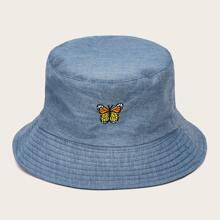 Schmetterling Stickereien Eimer Hut