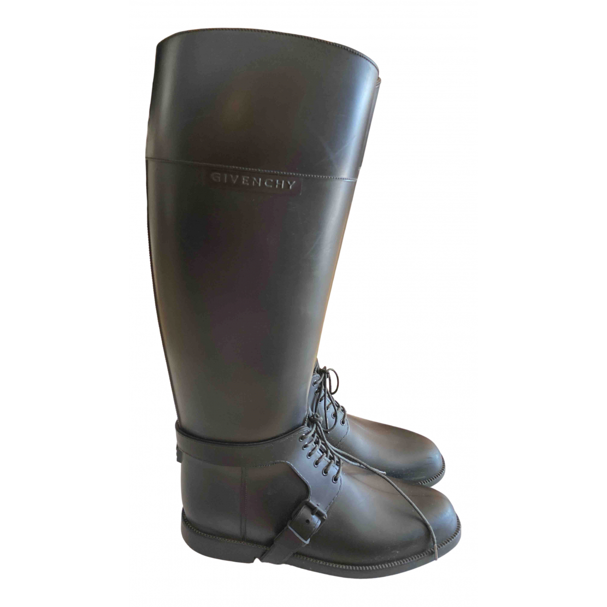 Givenchy - Bottes   pour femme en caoutchouc - noir