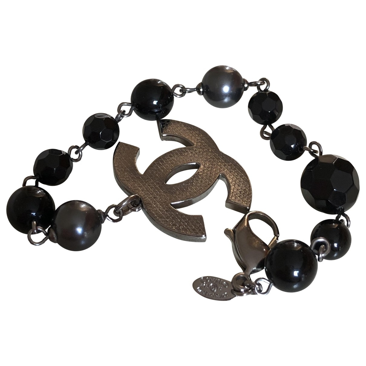 Chanel \N Armband in  Schwarz Metall