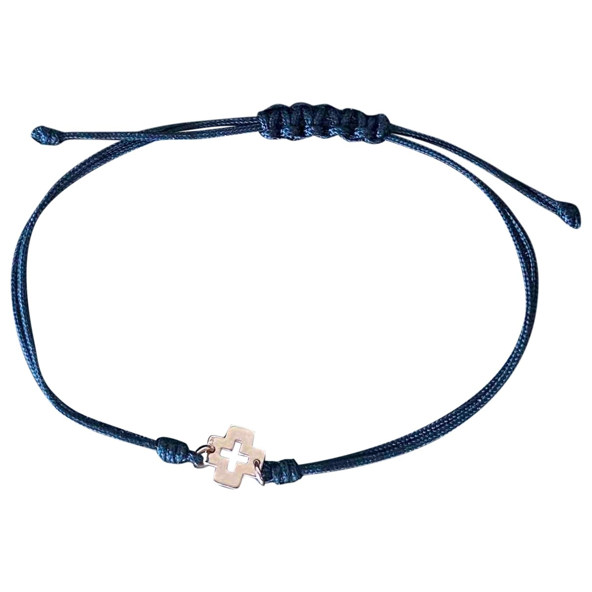 Non Signe / Unsigned Croix Armband in  Schwarz Rosegold