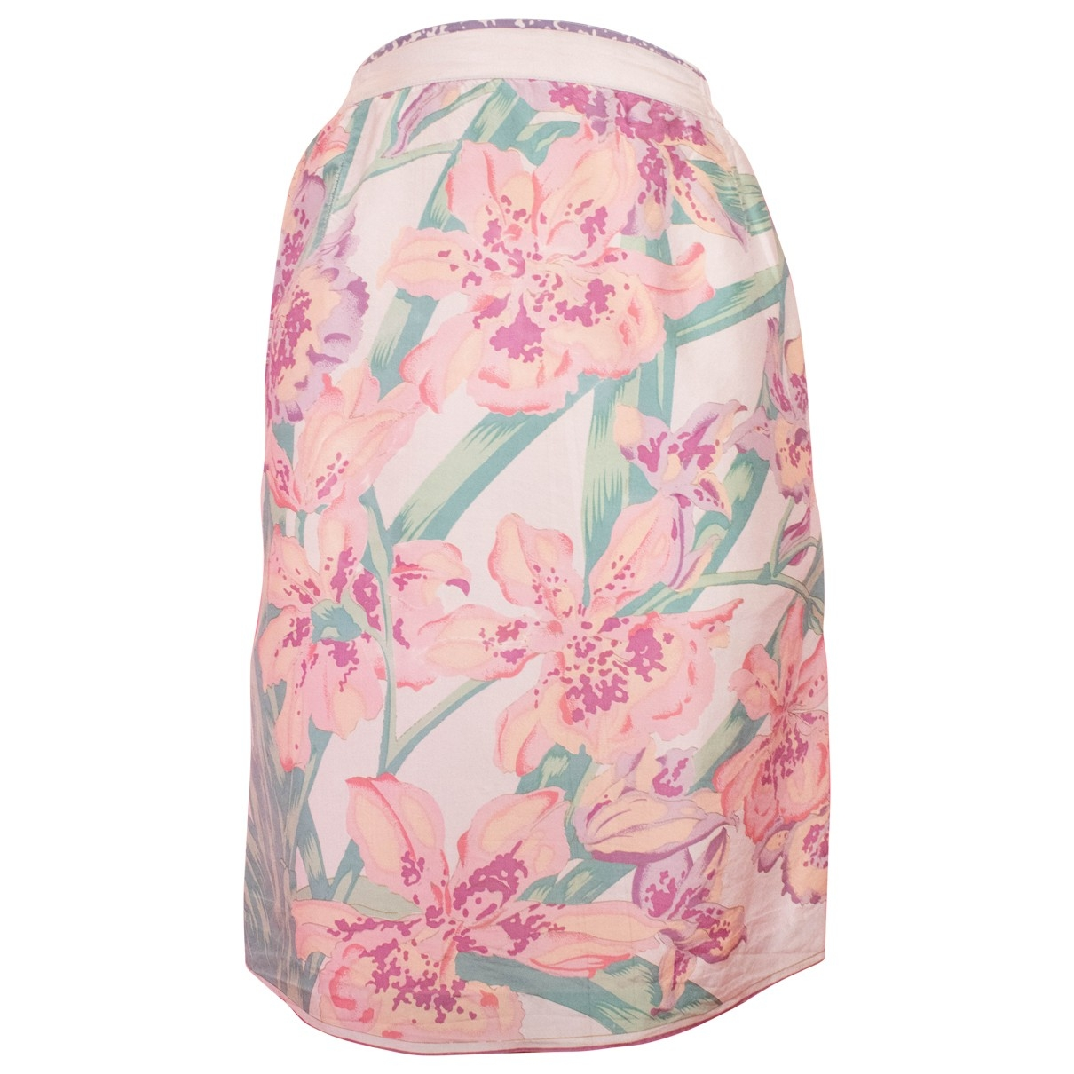 Non Signé / Unsigned \N Pink Silk skirt for Women 10 UK