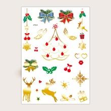 1 Blatt Tattoo Aufkleber mit Weihnachten Muster