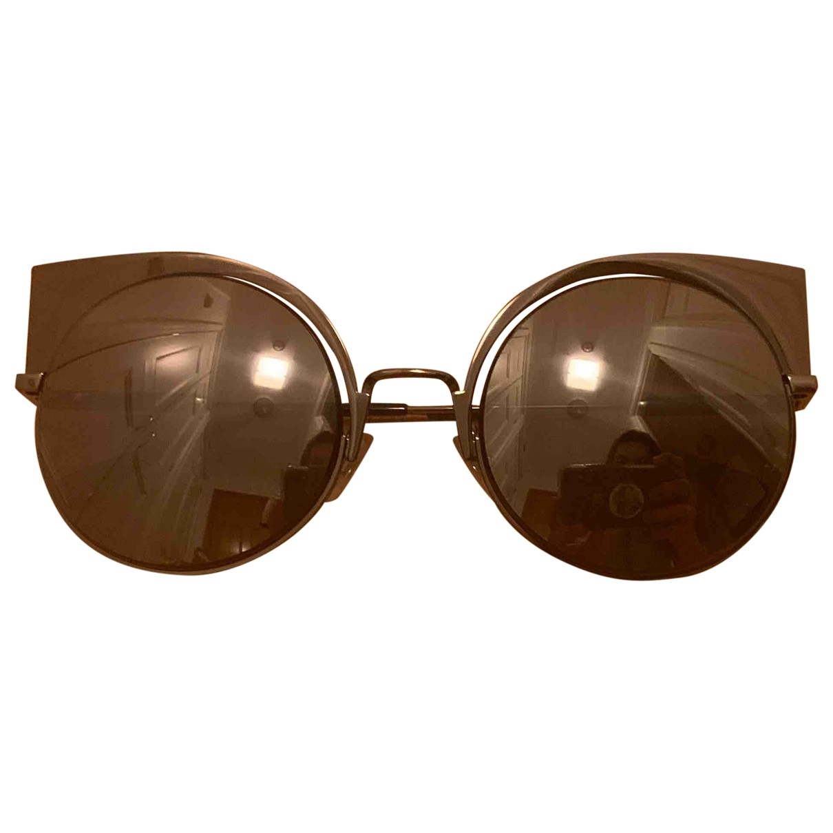 Fendi \N Metallic Metal Sunglasses for Women \N