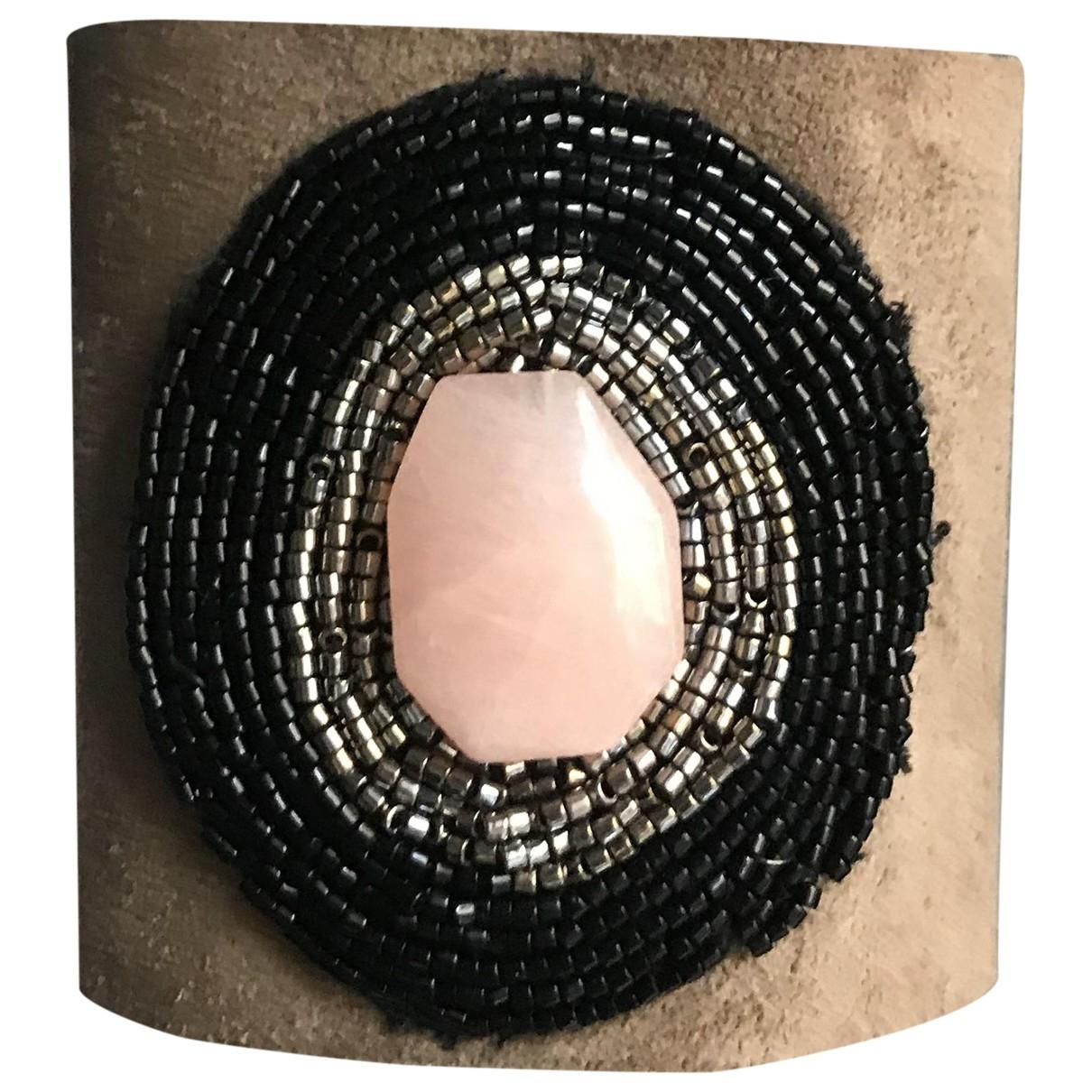 - Bracelet   pour femme en toile - beige
