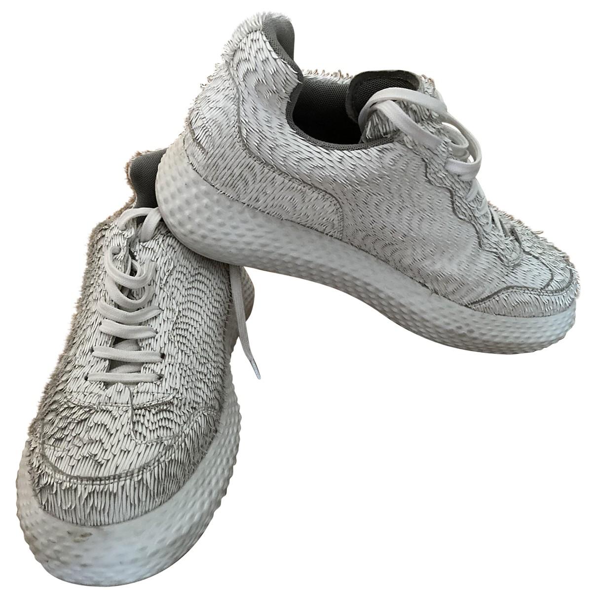 Emporio Armani - Baskets   pour homme en cuir - blanc