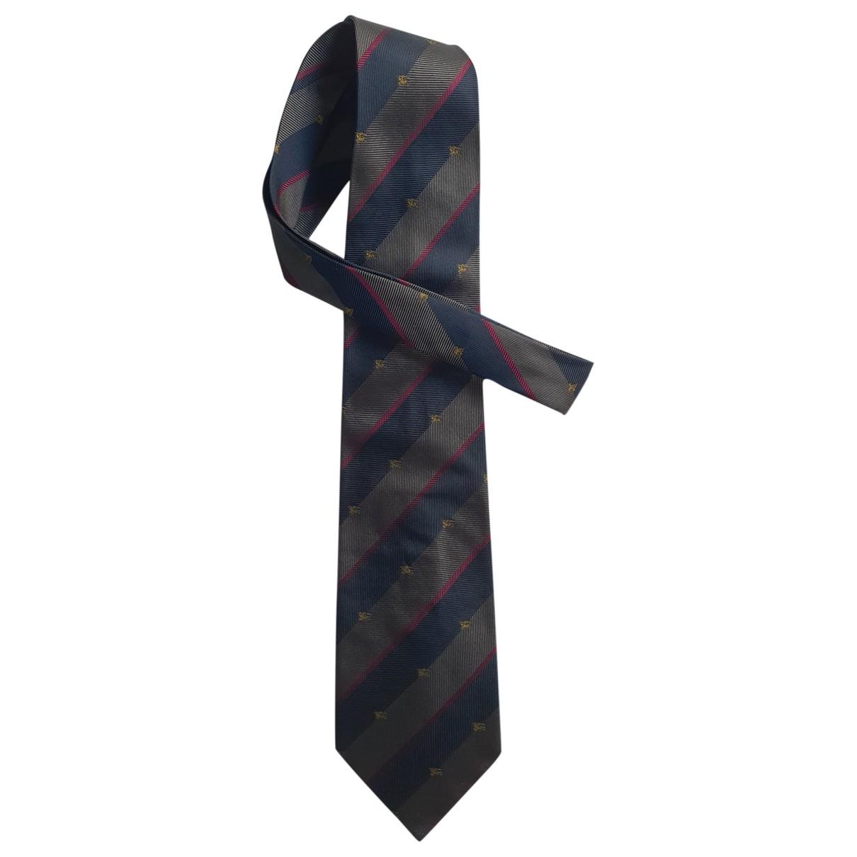 Burberry - Cravates   pour homme en soie - bleu
