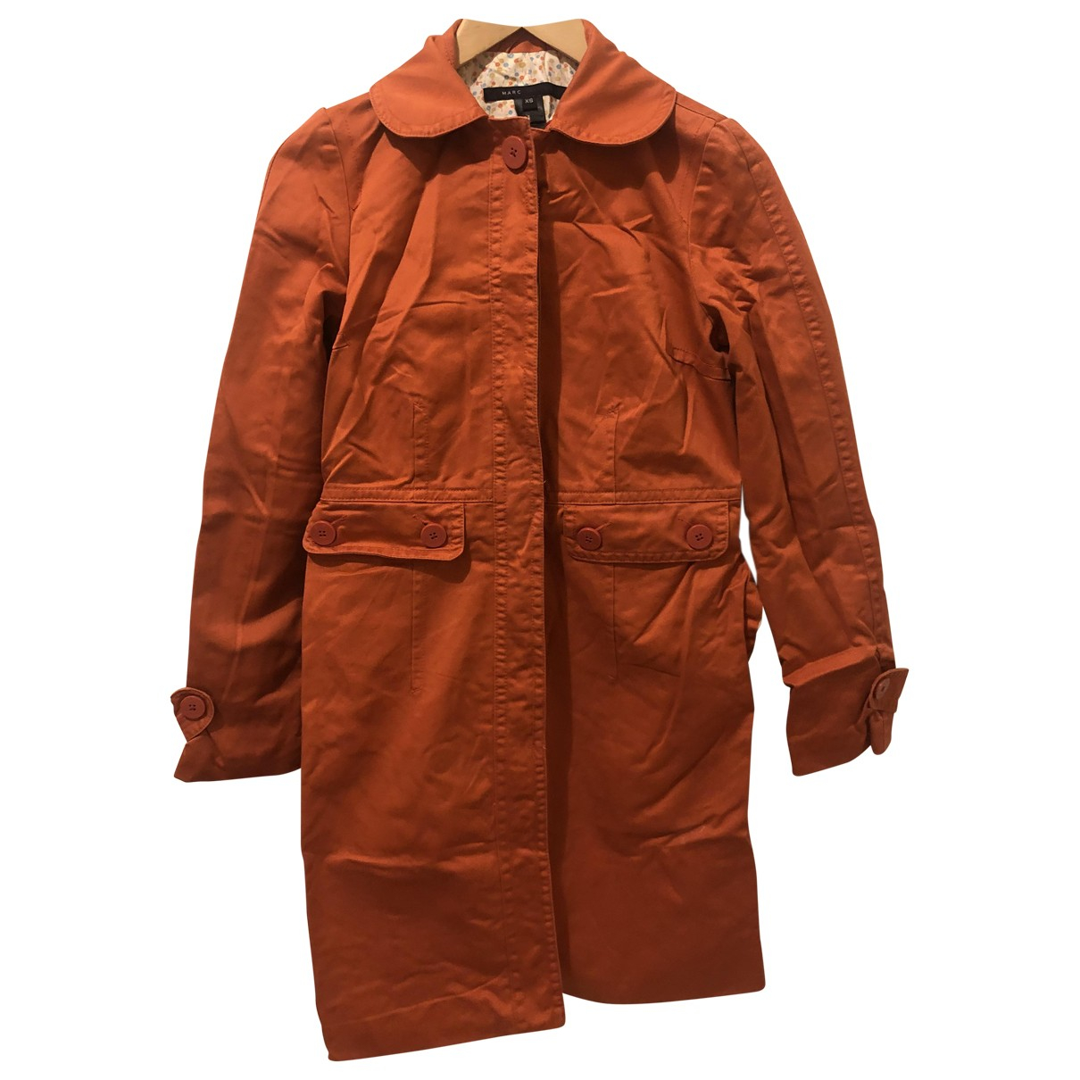 Marc By Marc Jacobs \N Orange Cotton coat for Women XS International