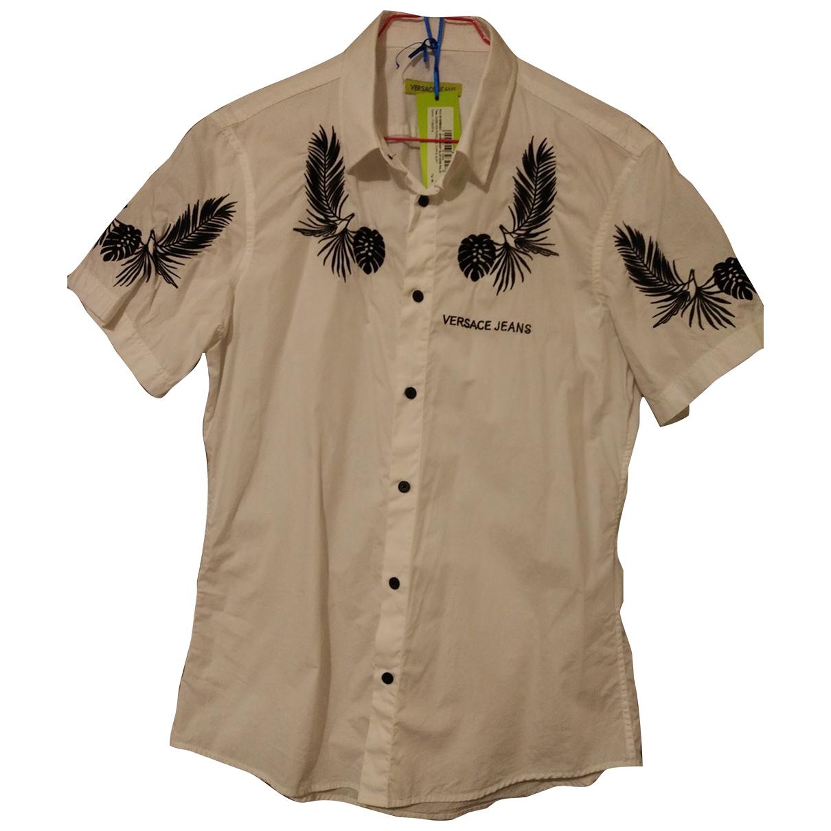 Versace Jean - Chemises   pour homme en coton - blanc