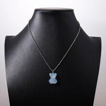 Acrylic Bear Chain Necklace