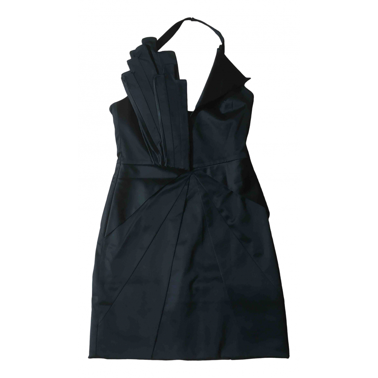 Designers Remix \N Black Cotton - elasthane dress for Women 36 FR