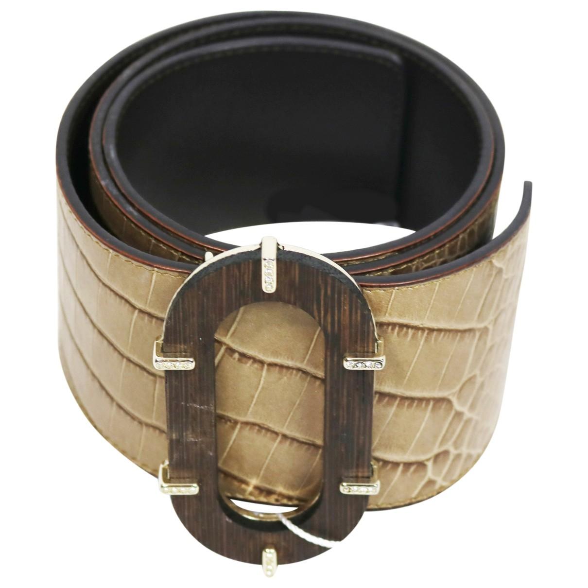 Valentino Garavani \N Brown Leather belt for Women 75 cm