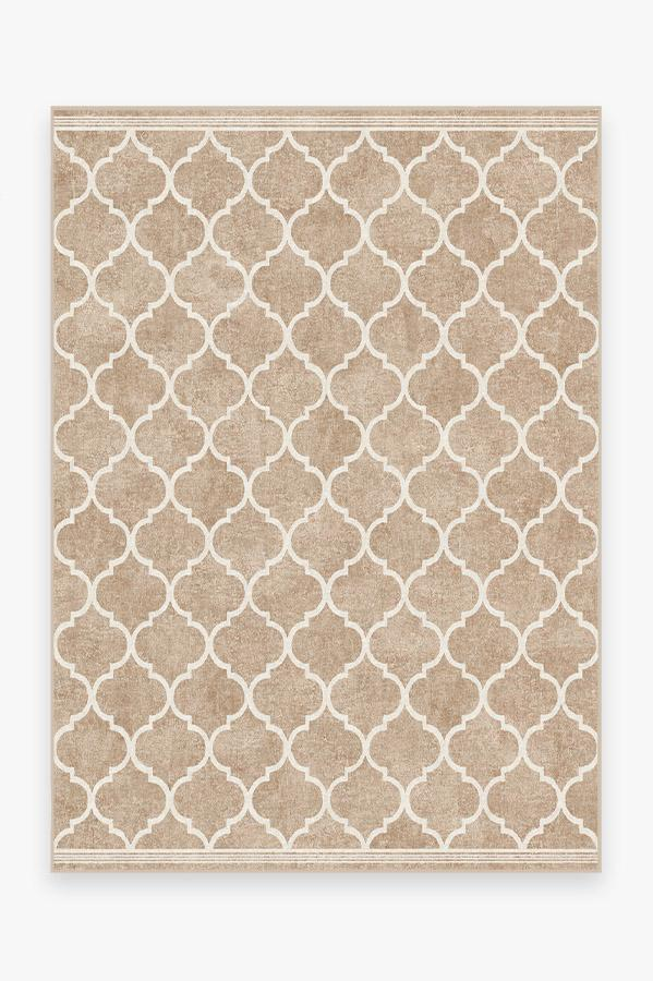 Washable Rug Cover & Pad   Terali Natural Clay Rug   Stain-Resistant   Ruggable   5'x7'