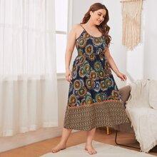 Cami Schlafanzug Set mit Grafik Muster