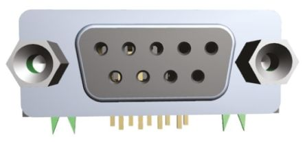Wurth Elektronik 618 Series, 25 Way Right Angle Through Hole PCB D-sub Connector Socket, 2.77 mm, 2.84 mm Pitch