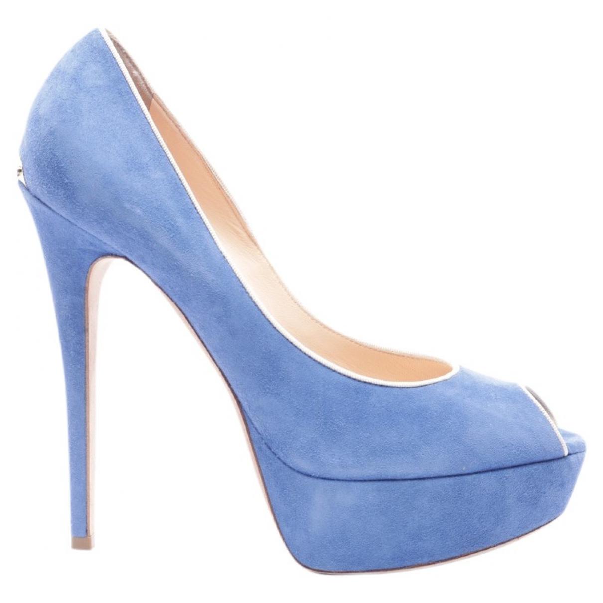 Alchimia Di Ballin - Escarpins   pour femme en cuir - bleu