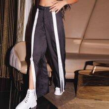 Pantalones de rayas de cintura alta