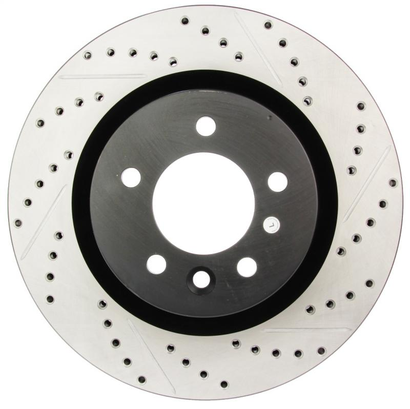StopTech 127.22009L Sport Drilled/Slotted Brake Rotor; Front Left Land Rover Front Left