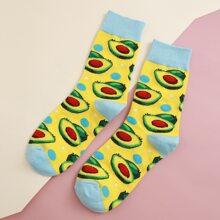 Socken mit Obst Muster
