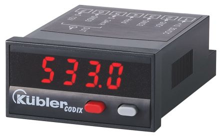 Kubler CODIX 533 On/Off Temperature Controller, 48 x 24mm, Current, Voltage Input, 10 → 30 V dc Supply