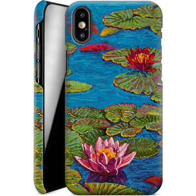 Apple iPhone X Smartphone Huelle - Will Cormier - Six Koi in Lilly Pond von TATE and CO