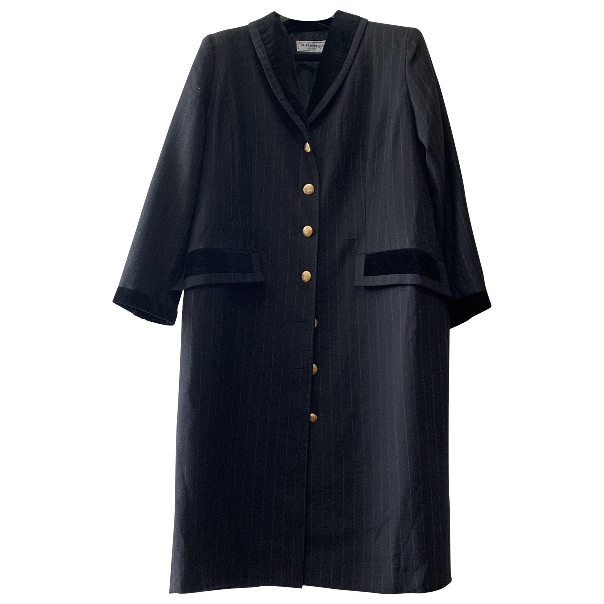 Burberry \N Grey Wool coat for Women 46 FR