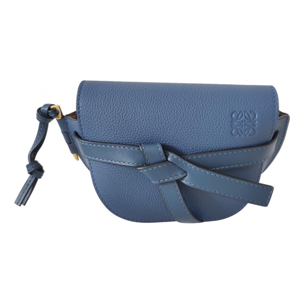 Loewe Gate Handtasche in  Marine Leder