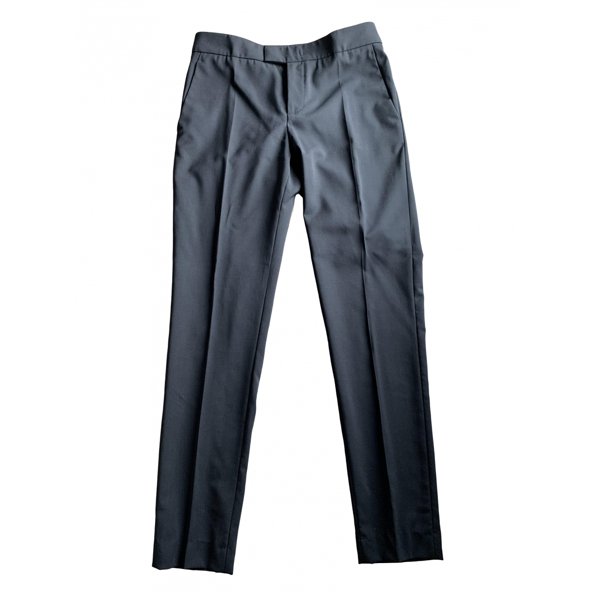 Red Valentino Garavani \N Black Wool Trousers for Women 38 FR