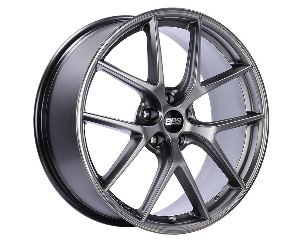 BBS CI-R Wheel 19x8.5 5x112 32mm Platinum Silver | Polished Rim
