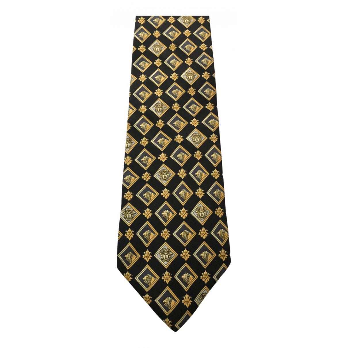 Gianni Versace N Black Silk Ties for Men N