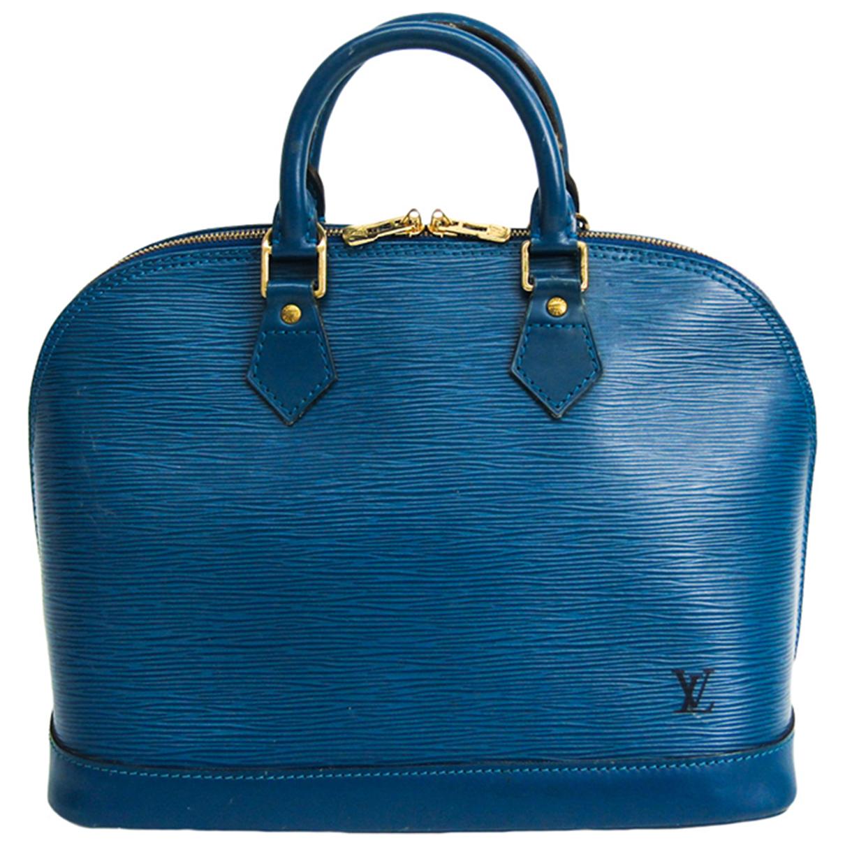 Louis Vuitton N Blue Leather handbag for Women N