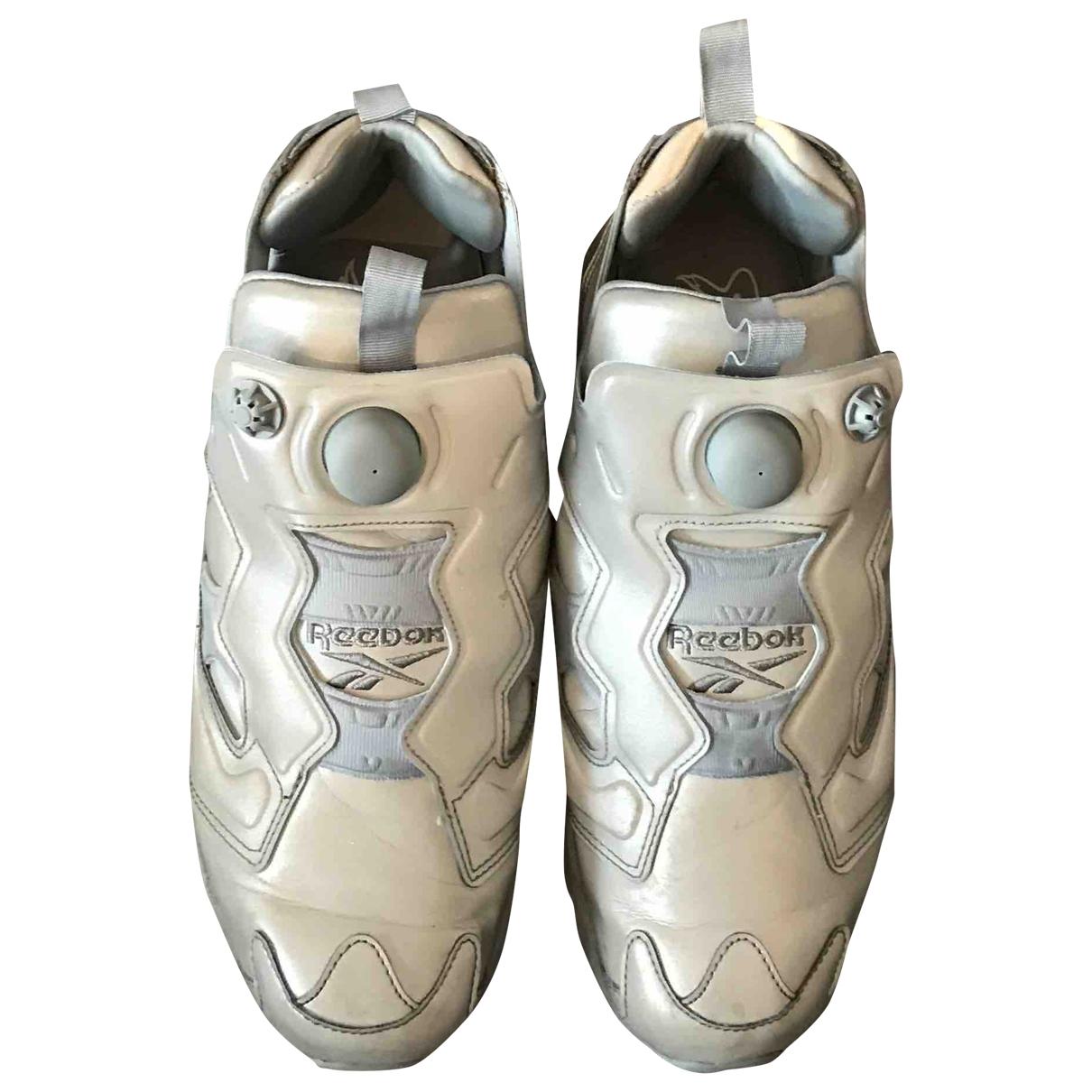 Reebok X Vetements - Baskets   pour homme en cuir - gris