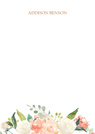 For Her 5x7 Personal Stationery, Card & Stationery -Floral