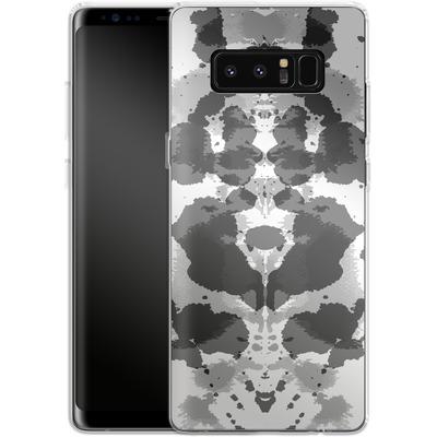 Samsung Galaxy Note 8 Silikon Handyhuelle - Mind Games Black von caseable Designs