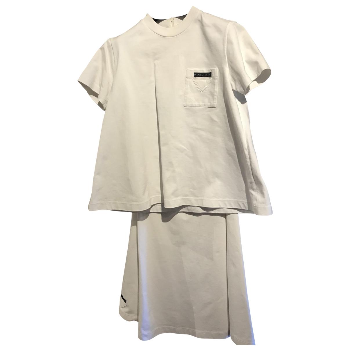 Prada \N White Cotton skirt for Women 44 IT