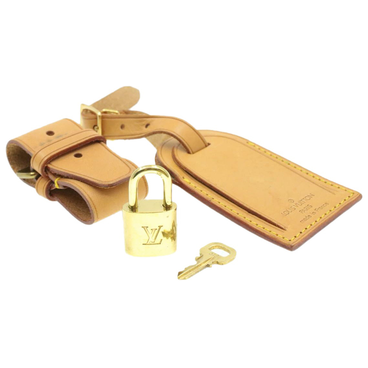 Louis Vuitton \N Beige Leather Bag charms for Women \N