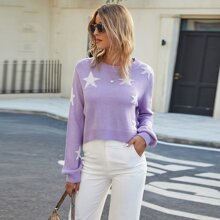 Pullover mit Stern Muster