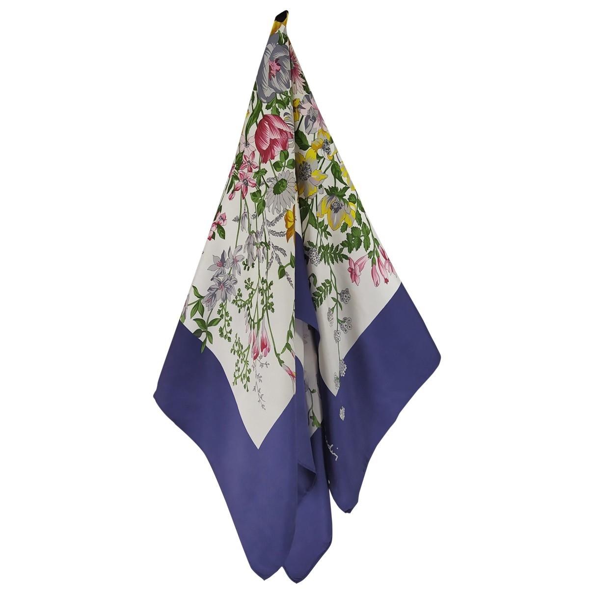 Pierre Cardin \N Blue Silk scarf for Women \N