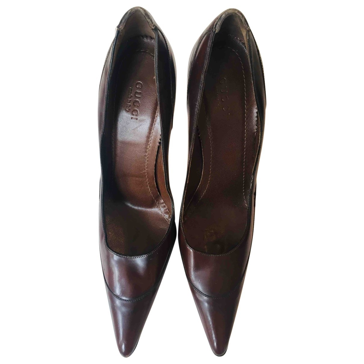 Gucci \N Brown Leather Heels for Women 37 EU