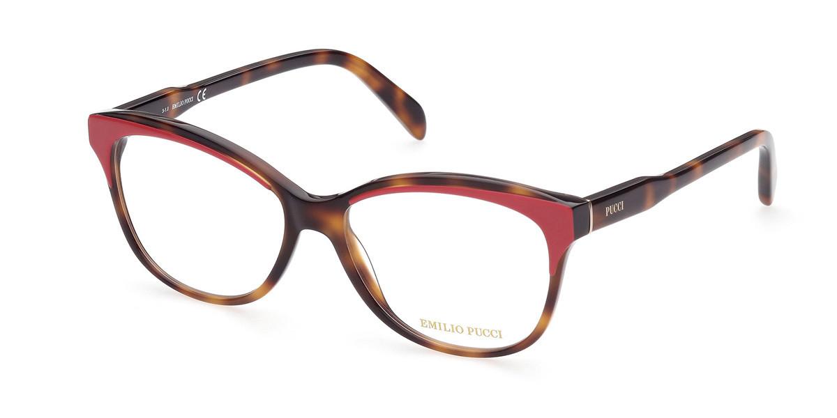 Emilio Pucci EP5164 077 Women's Glasses Tortoise Size 54 - Free Lenses - HSA/FSA Insurance - Blue Light Block Available
