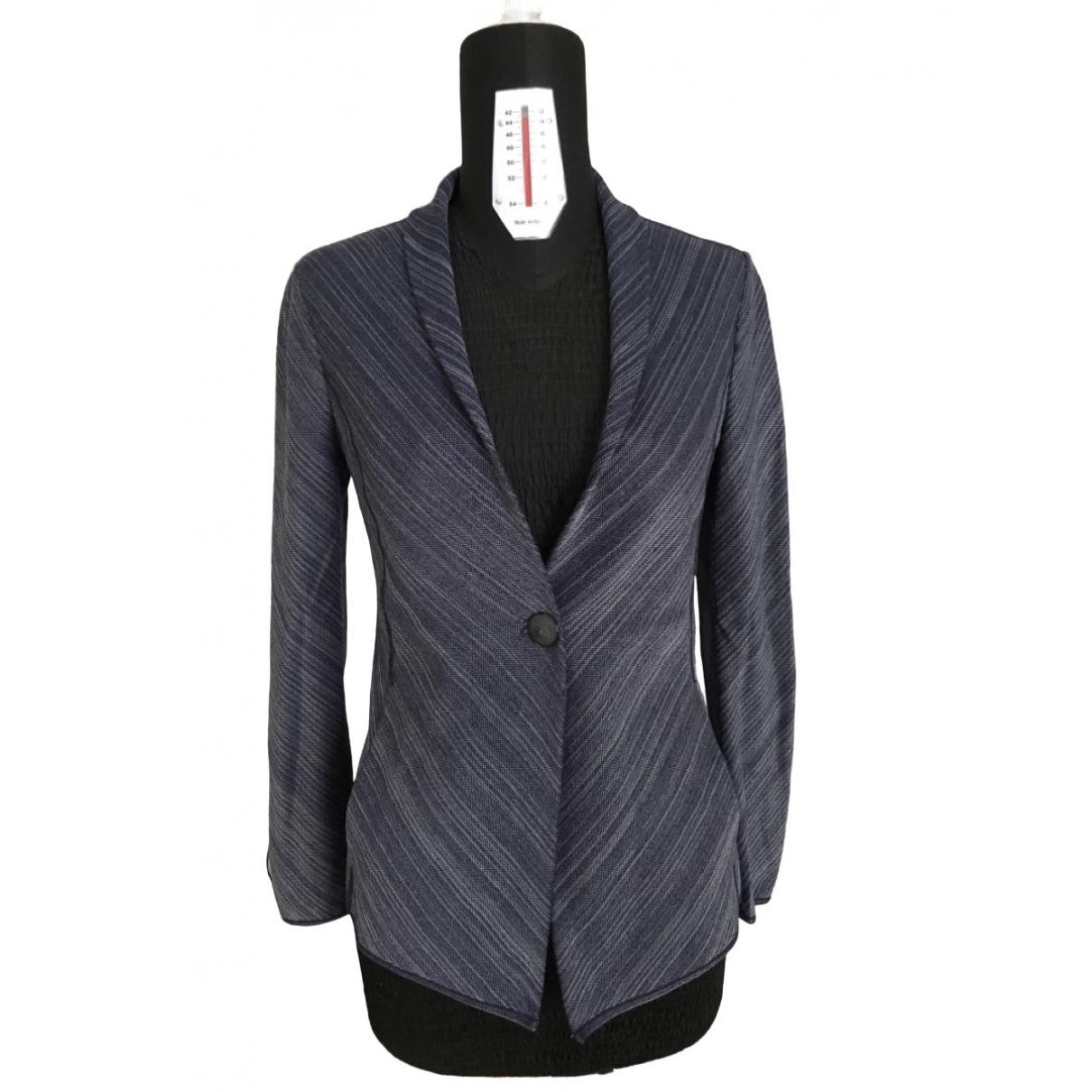 Giorgio Armani - Veste   pour femme en laine - bleu