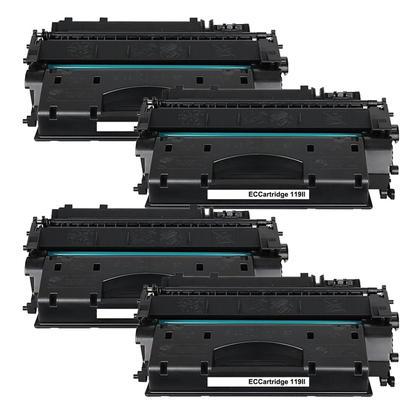 Compatible Canon 119 II 3480B001 Black Toner Cartridge - Economical Box - 4/Pack
