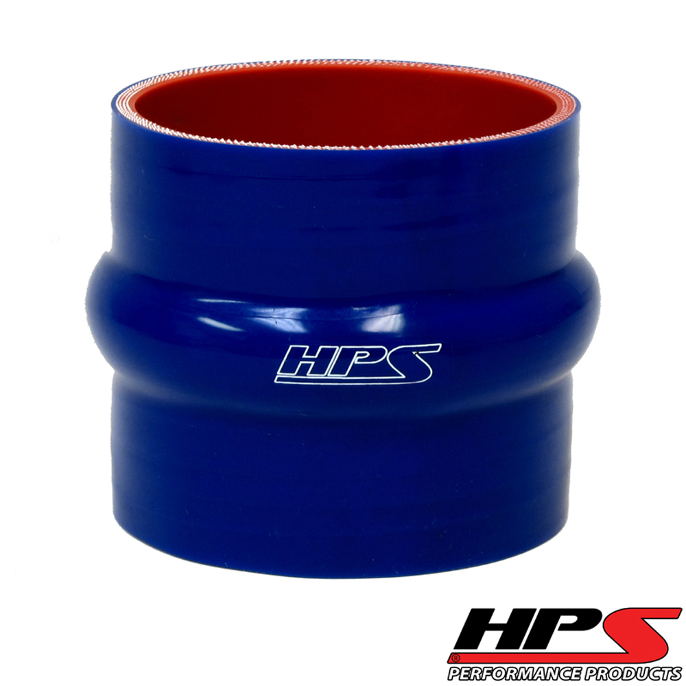 HPS 1.75inch (45mm) 4-ply Reinforced Hump Coupler Silicone Hose x 4inch Length Blue
