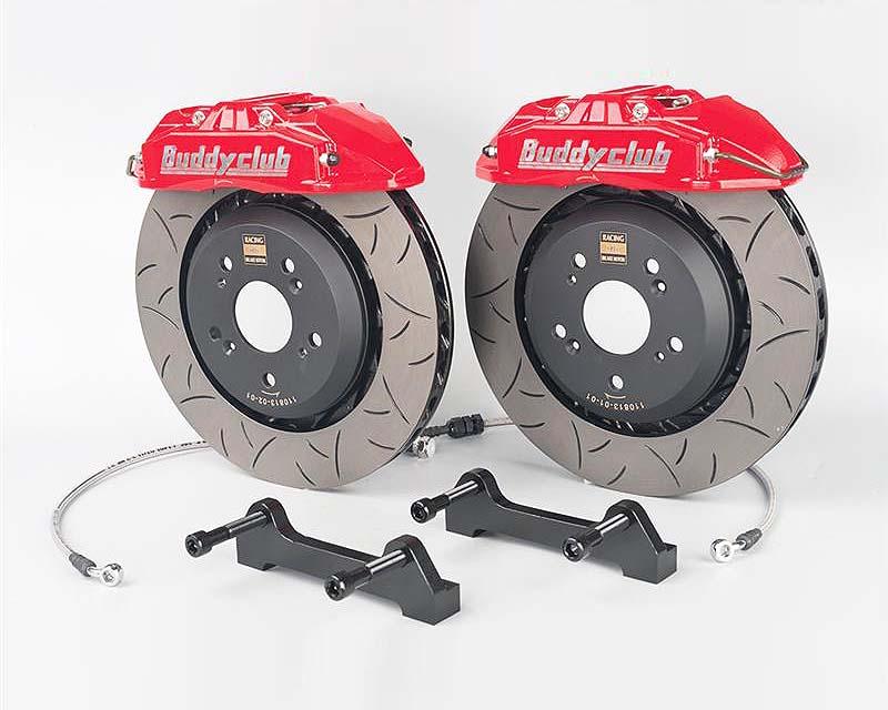 Buddy Club BC07-RSBK2302ZN6-RR Red Rear Racing Spec 2 Piece 330mm 2pot Brake Kit Scion FRS 13-15