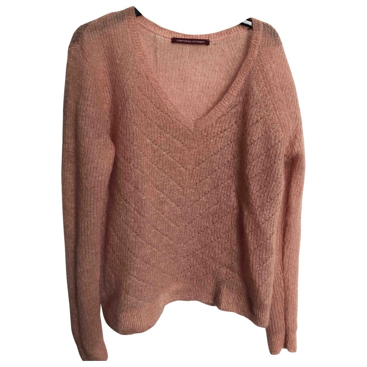 Comptoir Des Cotonniers - Pull   pour femme en laine - rose