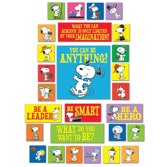Peanuts® You Can Be Anything Bulletin Board Set By Ek | Michaels®