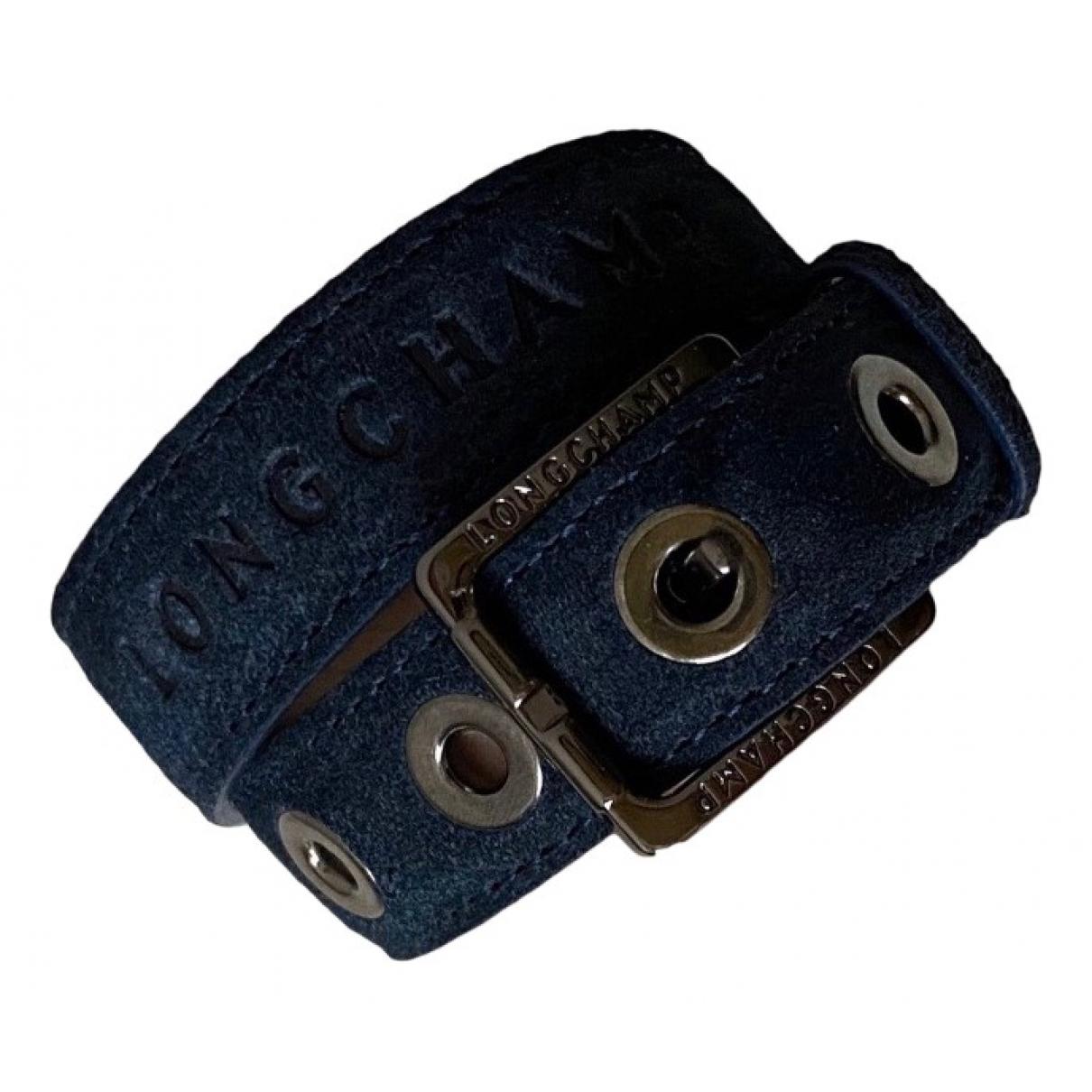 Longchamp \N Navy Leather bracelet for Women \N