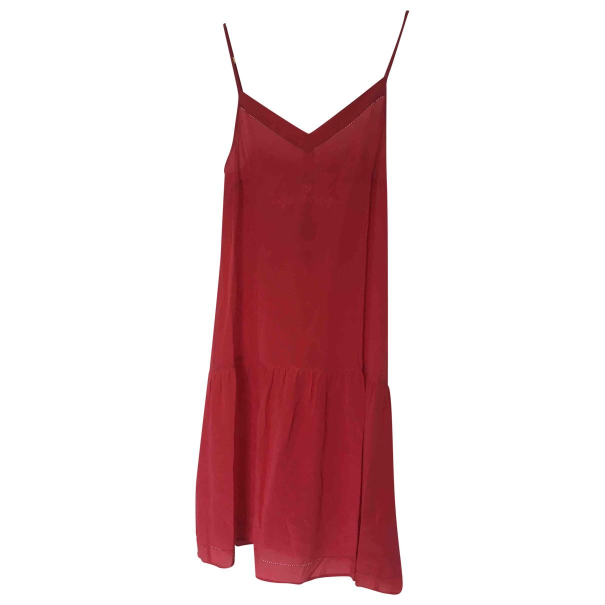 Twin Set - Robe   pour femme en soie - rose